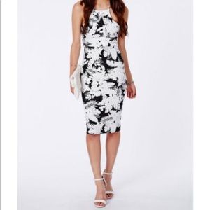 Missguided Tropical Floral Print Bodycon Dress